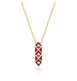Calliope Harlequin Star Necklace In Scarlet
