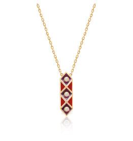 Calliope Harlequin Star Necklace In Scarlet