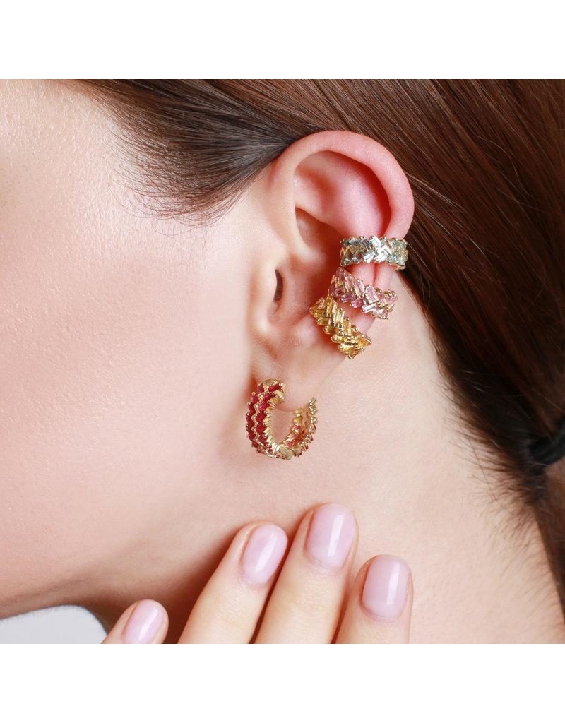 Shanhan Chevron Ear Cuff In Blue Lotus