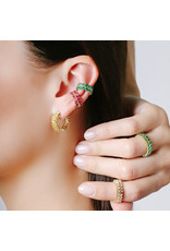 Shanhan Chevron Ear Cuff In Red Lantern