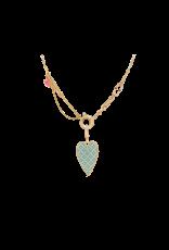 Calliope Carnival  Heart  Charm In Blue Tartan