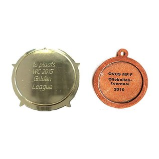 Tekst op medaille