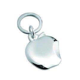 Sleutelhanger appel, verzilverd