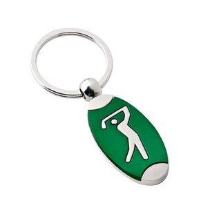 Sleutelhanger golf groen