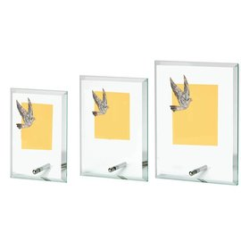 Glasstandaard duif