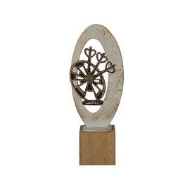 BEH 587 Trofee dart op hout