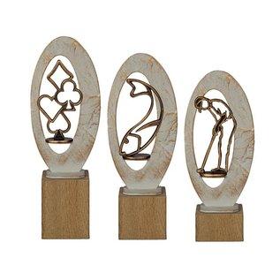 BEH 580 Trofee duif op hout