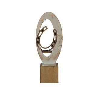 BEH 572 Trofee hoefijzer op hout