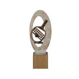 BEH 569 Trofee tafeltennis op hout