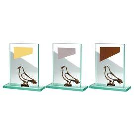 BW513-580 glazen standaard duif