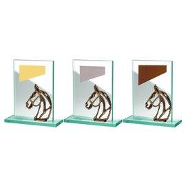 BW513-562 glazen standaard paard