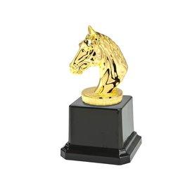 Standaard paardenhoofd goud