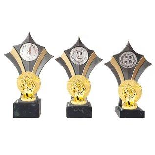 Standaard goud-zilver met dartbord