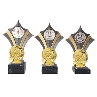 Standaard goud-zilver met wielrennen