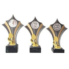 Standaard goud-zilver met badminton