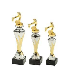 Standaard goud-zilver met figuur hardlopen