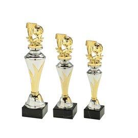 Standaard goud-zilver met handbalfiguur