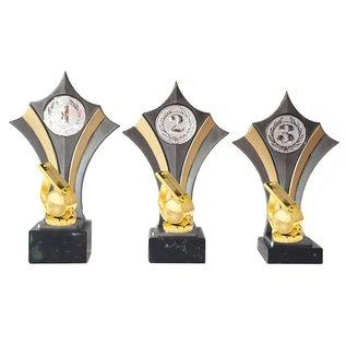 Standaard goud-zilver met fluit