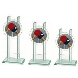 Glazen standaard  tafeltennis