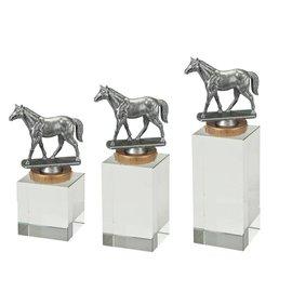 W401 Glasblok paard