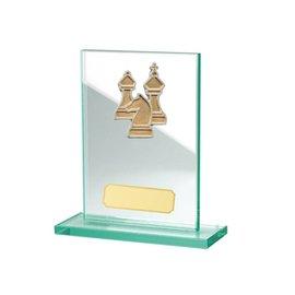 Glazen standaard schaken