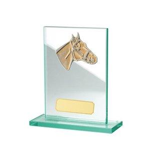 921 Glazen standaard paard