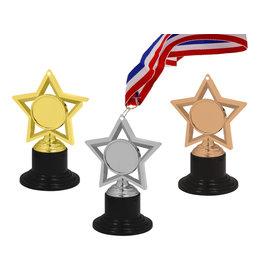 3D medaille/standaardje ster