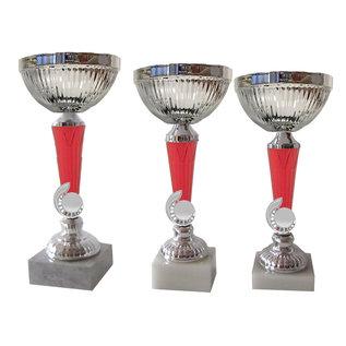 1487X Beker zilver-rood