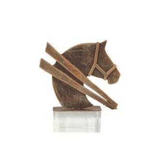 Bel220 paard op glas