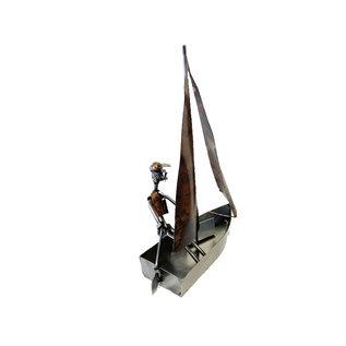 Zeilboot van bouten en moeren