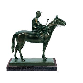 Bronzen Paard met ruiter 61505