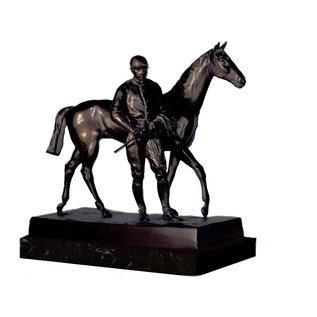 Bronzen Paard met ruiter 61505 - Copy