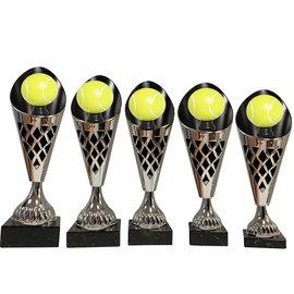 Zilverkleurige beker tennis