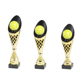 Goudkleurige beker tennis