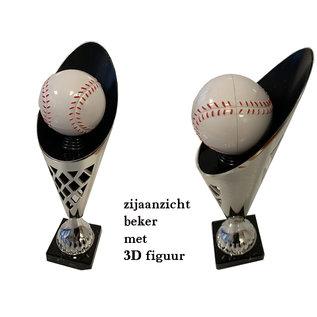 2006 Zilverkleurige beker honkbal