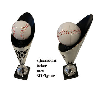 2009 Goud-zwarte beker honkbal
