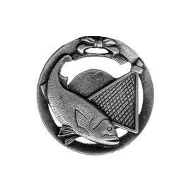 Medaille vissen 70mm (op=op)