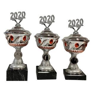 2003 Zilverkleurige beker met jaartal