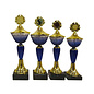 1528 Beker goud-blauw met glazen cup