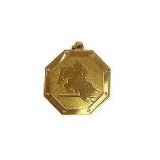 8-kant medaille paard springen