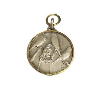 Medaille vogeltjes