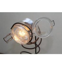 Industriële lamp met glazen Weckpot