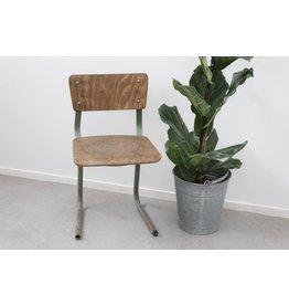 Vintage bureaustoel met groen frame