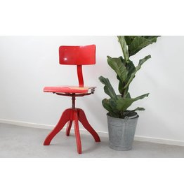 Vintage adjustable red office chair