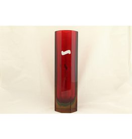 Murano Murano block vase 8-sided red / green / blue / yellow
