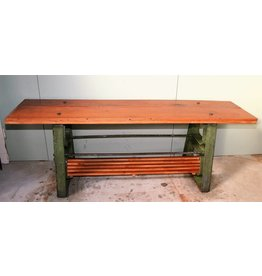 Industrial Sidetable with an old setting machine