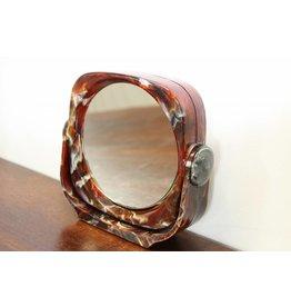 Vintage bakelieten tafel of wand spiegel