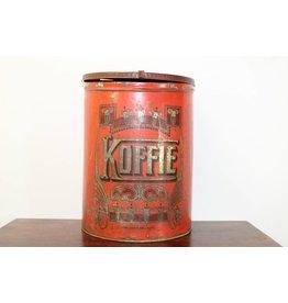 Vintage Rood koffieblik Belgie