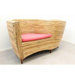 Vintage design tête-a-tête bench