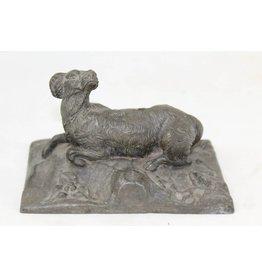 Bronzen beeld jachthond
